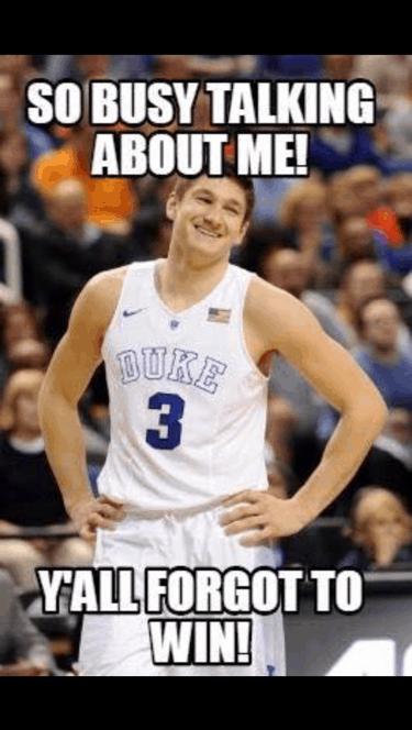 Others talk Duke wins