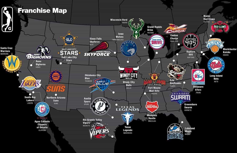 nba g league map
